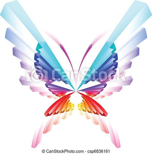 蝶, 抽象的, カラフルである - csp6836161