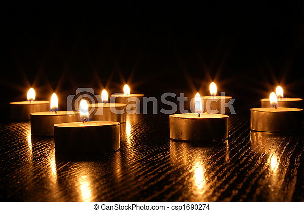 蠟燭, 浪漫, 光 - csp1690274