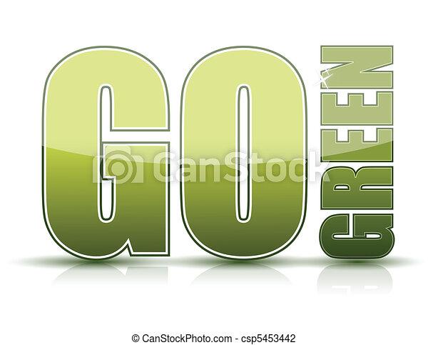 行きなさい, 緑 - csp5453442