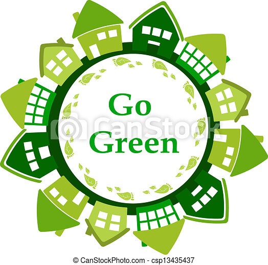 行きなさい, 緑 - csp13435437