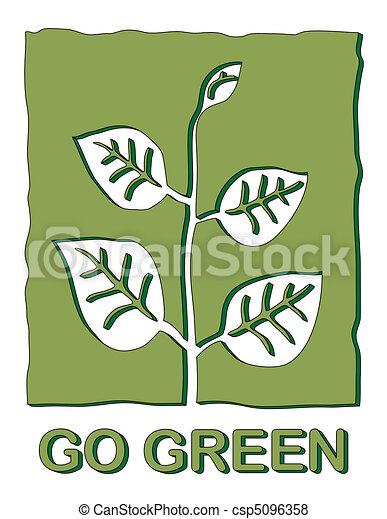 行きなさい, 緑 - csp5096358