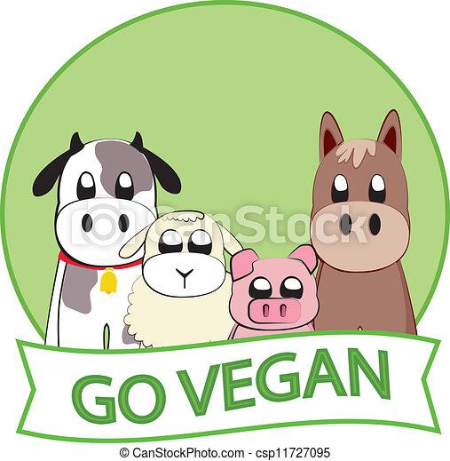 行きなさい, vegan - csp11727095