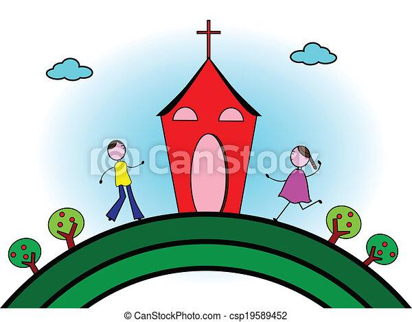 行く, 教会 - csp19589452