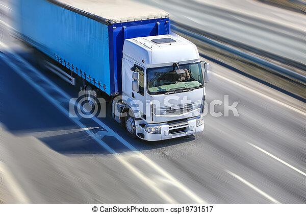 行動, 卡車, 高速公路 - csp19731517