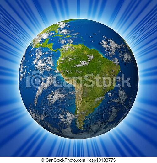 行星地球, 以为特色, 美国, 南方素材插图