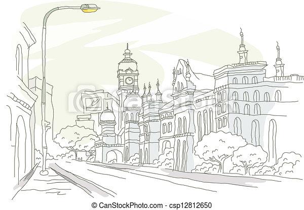 街道, 外部, 建築物 - csp12812650