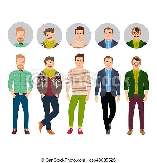 衣服, 確信した, ファッション, 偶然, 人 - csp48035523