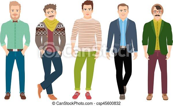 衣服, 確信した, ファッション, 偶然, 人 - csp45600832