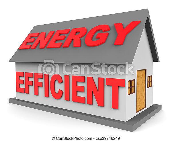 表す, 効率的である, 家, エネルギー, レンダリング, 家, 3d - csp39746249