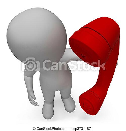 表す, 呼出し, レンダリング, 特徴, 私達, 話し, 呼出し, 3d - csp37311871
