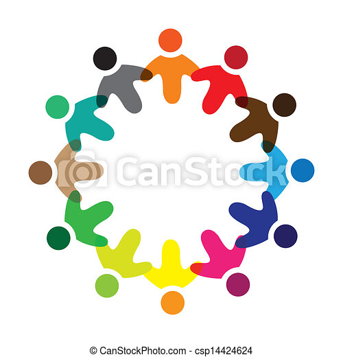 表す, 学校, 概念, のように, カラフルである, &, graphic-, 多様性, 労働者, イラスト, 共用体, ring., ベクトル, 概念, icons(signs), 遊び, 友情, 子供, 共有 - csp14424624