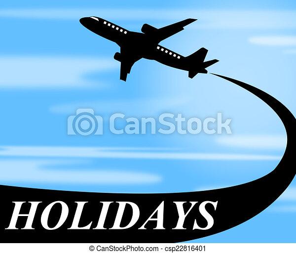 表す, 空気, 休暇, 飛行機, 行きなさい, ホリデー - csp22816401