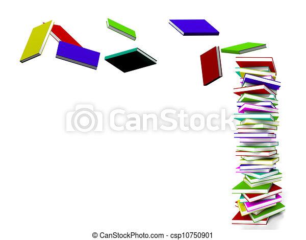 表す, 飛行, いくつか, 本, 勉強, 教育, 山 - csp10750901