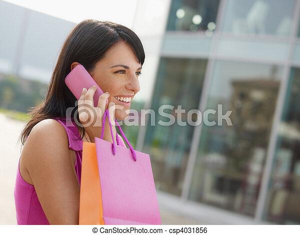 袋子, 妇女购物 - csp4031856