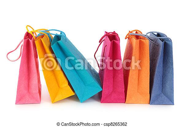 袋, 買い物, カラフルである - csp8265362