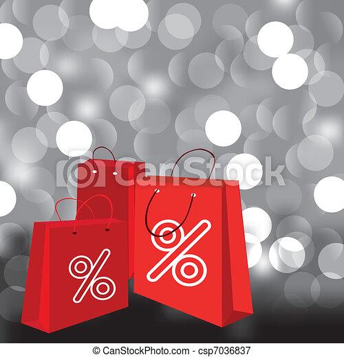 袋, 買い物 - csp7036837