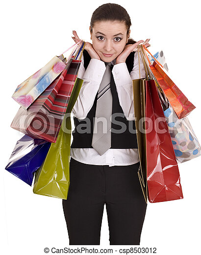 袋, shopping., グループ, 女性実業家 - csp8503012