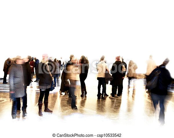 被模糊不清, 人群, 人們 - csp10533542