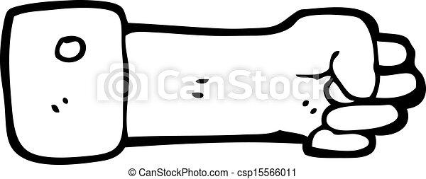 被緊握, 符號, 卡通, 拳頭 - csp15566011