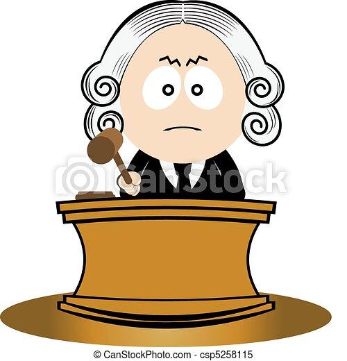 裁判官, 使うこと, 彼の, 小槌 - csp5258115