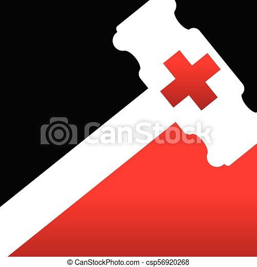 裁判官, 傷害, 法律, 医者 - csp56920268