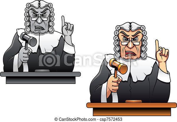裁判官, 小槌 - csp7572453
