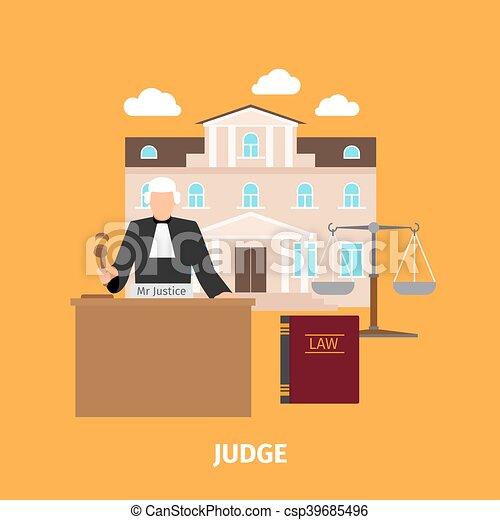 裁判官, 概念, 法律 - csp39685496
