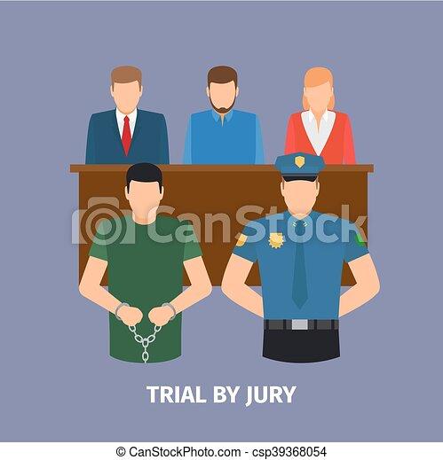 裁判, 概念, 陪審, 法律 - csp39368054