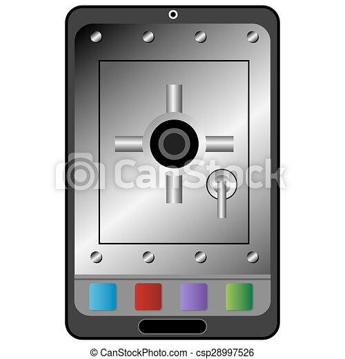 装置, セキュリティー, デジタル, アイコン - csp28997526