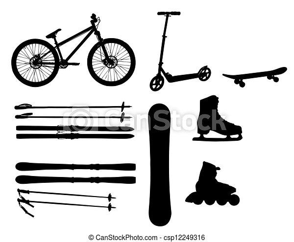 装置, ベクトル, シルエット, イラスト, スポーツ - csp12249316
