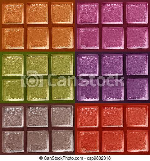 装飾用である, ガラスブロック, 色 - csp9802318