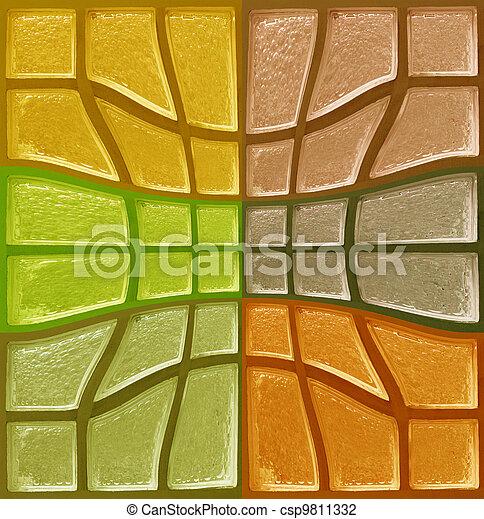 装飾用である, ガラス, 色 - csp9811332