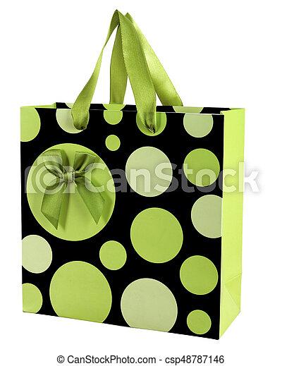 装飾用である, ギフトの弓, 袋, ペーパー, 背景, 白 - csp48787146