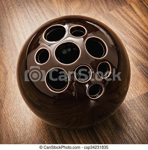 装飾用である, セラミック, 穴, ボール - csp34231835