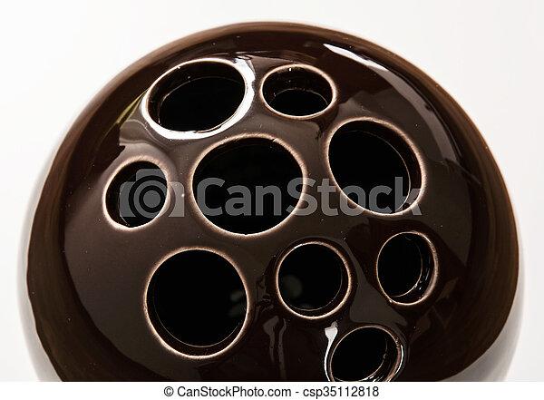 装飾用である, セラミック, 穴, ボール - csp35112818