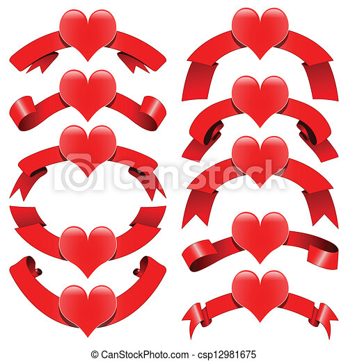 装飾用である, リボン, ロマンチック - csp12981675