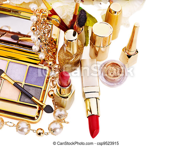 装飾用である, 化粧品, makeup. - csp9523915
