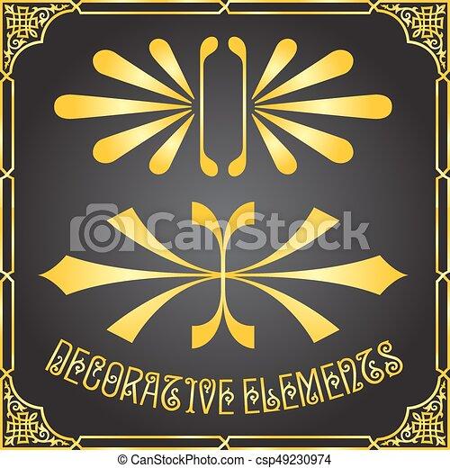 装飾用である, 花の要素, デザイン, 装飾 - csp49230974