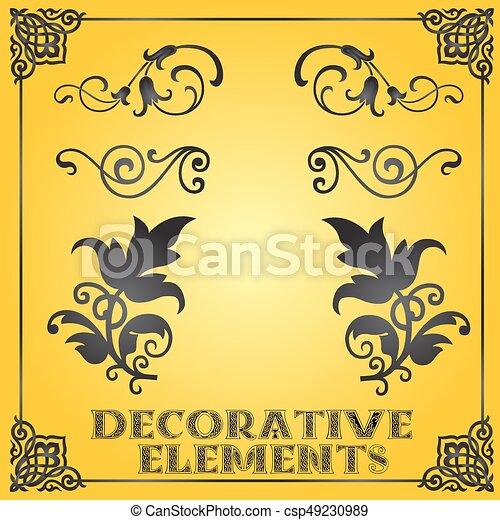 装飾用である, 花の要素, デザイン, 装飾 - csp49230989