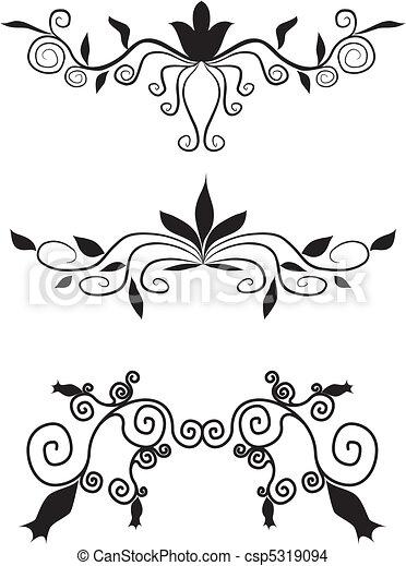 装飾用である, 花の要素, デザイン - csp5319094