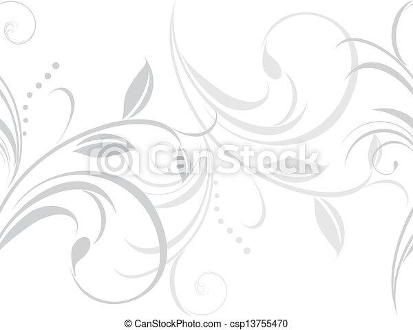 装飾用, ライト, ボーダー, 灰色 - csp13755470