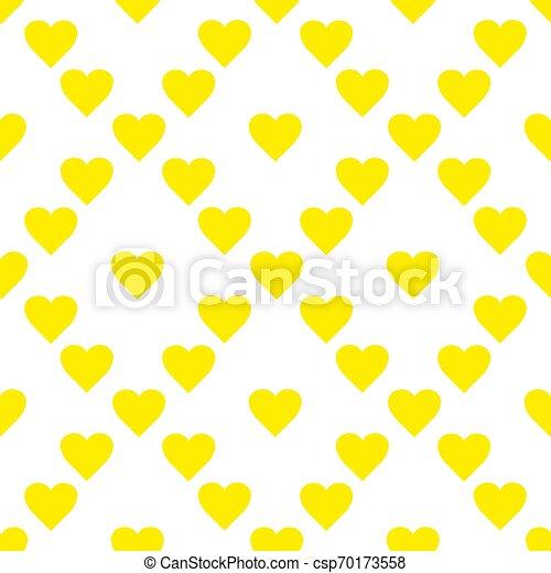 装飾的な 要素, 芸術, illustration., パターン, 仕事, seamless, 黄色, 手, ベクトル, hearts., 引かれる, 創造的, design. - csp70173558