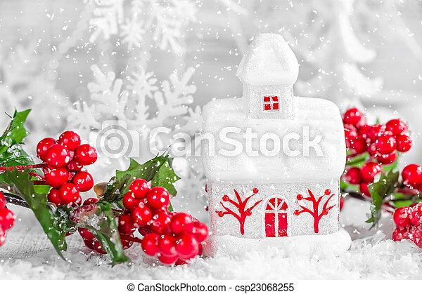 装飾, クリスマス - csp23068255