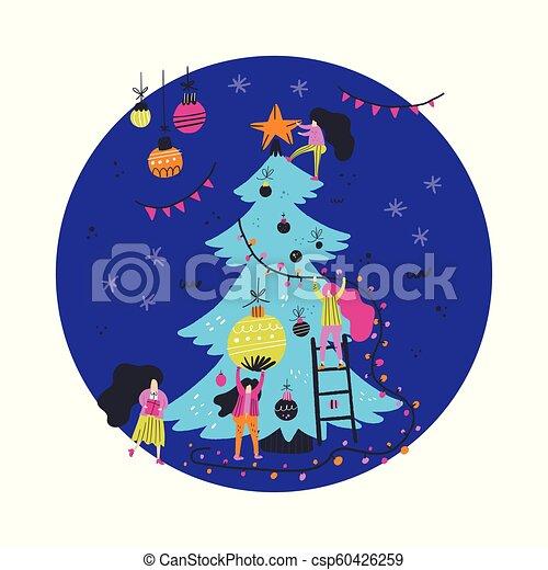 装飾, 木, クリスマス - csp60426259