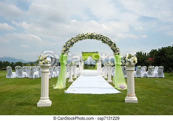 装飾, 概観, 結婚式 - csp7131229