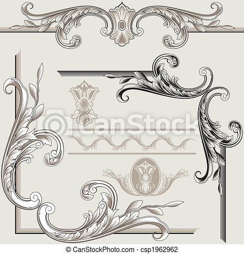 装飾, 要素, クラシック - csp1962962