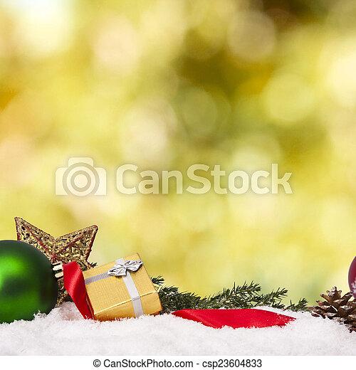 装飾, 資金, 伝統的である, クリスマス, ホリデー - csp23604833