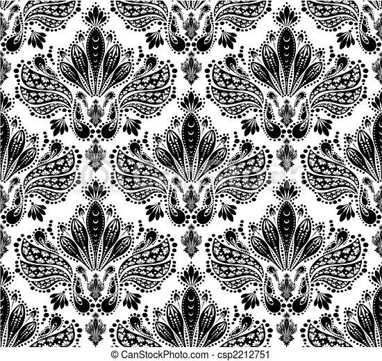 装饰, 植物群, 装饰物, seamless - csp2212751