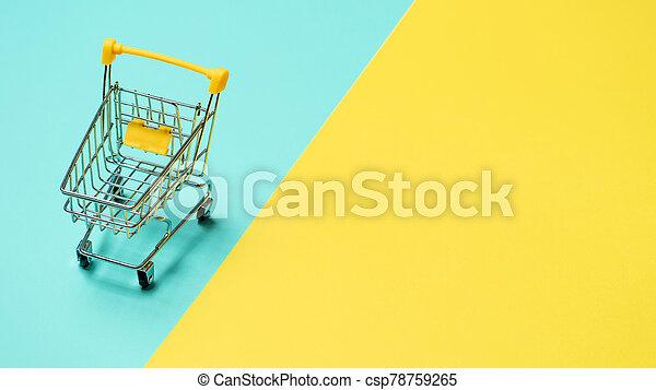 裏返された, スペース, カート, コピー, 買い物, 空 - csp78759265