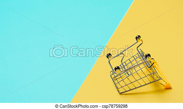 裏返された, スペース, カート, コピー, 買い物, 空 - csp78759298